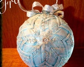 Frosted Quilted Christmas Ornament- LAST ONE!!!!!