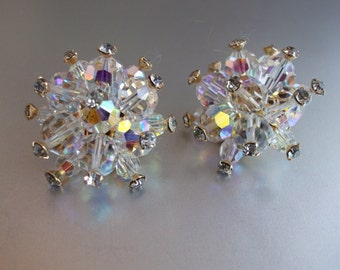Vintage Cut Crystal earrings