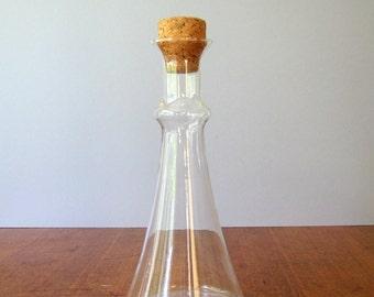 Vintage Dansk Glass Decanter / Bottle / Carafe with Cork Stopper