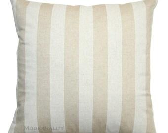 Toss Pillows, Beige Striped Pillow Cover, Cloud Canopy Pillow, Zippered Pillow, Linen Throw Pillows, Neutral Home Decor, Beige Pillow Case