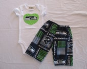 Seahawks - Heart Onesie and Pants FREE SHIP - use code - GAMEDAY