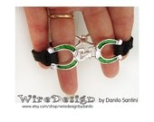 Up-cycled Horse-Shoe Bracelet with heavy Leather Lace