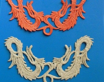 Lace dragon | Etsy : crazy quilt dragon - Adamdwight.com
