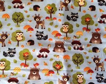 Boppy Nursing Pillow Cover with Zipper Closure Woodland Critters/Brown Minky