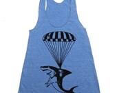 Shark Workout Tank - Funny Tanktop - Workout Clothes For Women - Running Tank - Run Tank Top - Run Shirt - Gym Tank Top