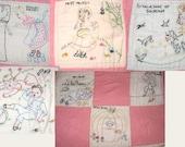 Omaha 1940's newspaper nursery rhyme quilt 21 Block embroidery pattern