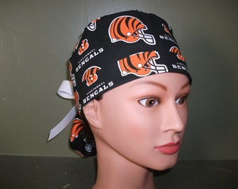 Ponytail scrub cap NFL Bengals