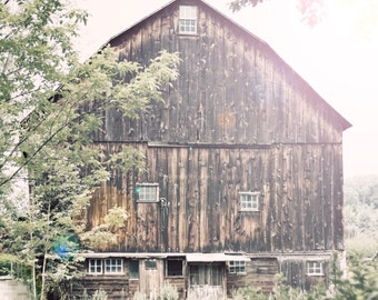 Barn print, barn canvas, barn photo, distressed barn, rustic barn photo, earth tones, oversized print, oversized art, midwest photo