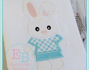Sweet Easter Bunny Boy Embroidered and Personalized