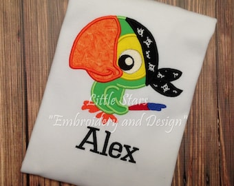 Skully Shirt -Appliqued and Personalized