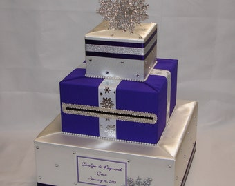 Winter, Snowflakes theme Wedding Card Box-any colors