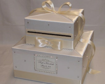 White/Cream(Ivory) Wedding Card Box-any color can be made
