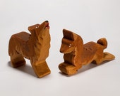 Wolves pair / Wooden animals