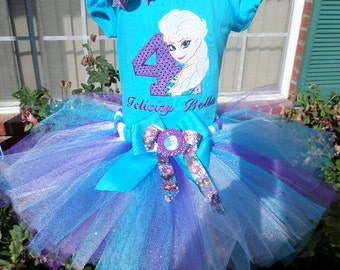 Custom Frozen  Birthday tutu