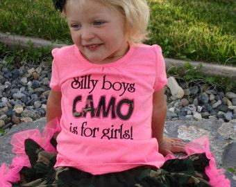 Daddy's Girl Camo Applique Shirt Photo Props