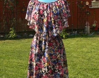 sheer flower print summer dress size med