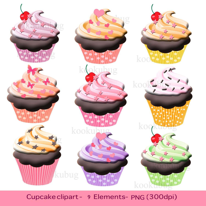 Cake And Art Cupcakes : Cupcake clipart cupcakes clip art digital cupcake personal