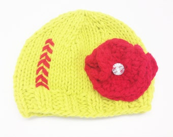 Softball Knit Hat (One size fits all)