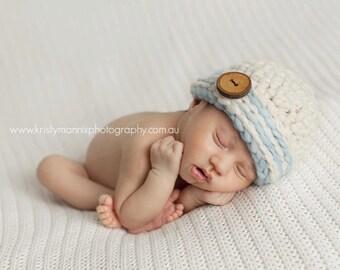 SALE PDF CROCHET  Pattern - newborn photography prop handspun beanie beanie #31