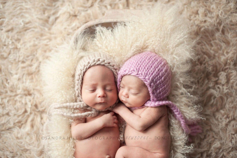 PDF Knit Pattern newborn photography prop chunky braid