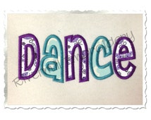 Dance Applique Machine Embroidery Design - 4 Sizes