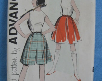 Advance 9737 sleeveless blouse, culotte and skirt teen size 14 bust 34 inches