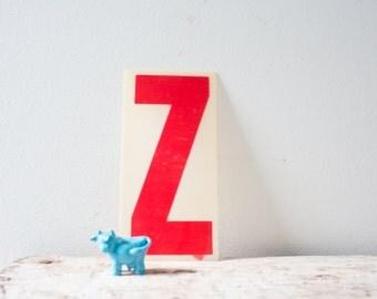Vintage Letter Z - Red Marquee Plastic Letter Z Vintage Marquee Sign Vintage Sign Z Sign