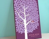 Unique Wedding Guest Book Canvas - Wishwik Tree - Peachwik Interactive Art Stretched Canvas - 300 guests - Wedding Gallery Wrapped Canvas
