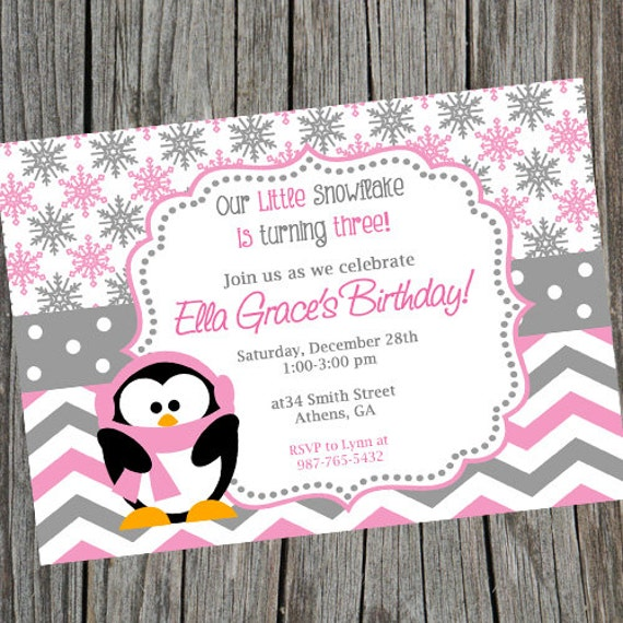 winter wonderland birthday party invitation. onederland invite, Birthday invitations