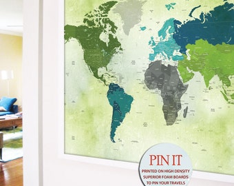 Gift for Boyfriend, World map push pin, 24X36 Inches, Dreamy World, World Travel, Custom gift for boyfriend, Paper Gift