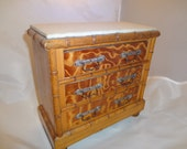 Reserve listing for Lisa !!!   Faux Miniature Bamboo Three Drawer Chest