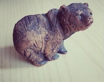 sale - DENMARK - grumpy bear Tilgmans Keramik Danish Modern Stoneware Art Pottery Studio Denmark Scandinavian