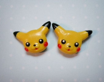 Pikachu earrings - Hand-sculpted kawaii pokemon tribute
