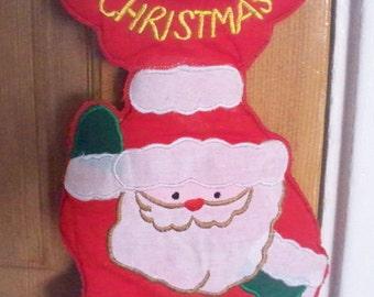Vintage Christmas Santa Claus Door Hanger Christmas Decor Merry Christmas