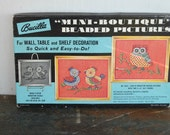 Vintage Bucilla Mini-Boutique Beaded Pictures Kit Chicks and Owl