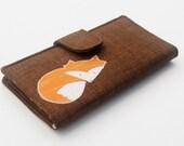 Fox Wallet, Womens Bifold Clutch, Vegan Wallet