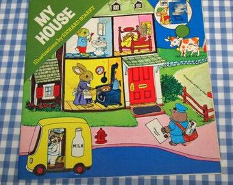 my house, vintage 1976 children's book