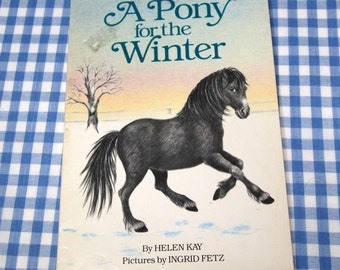 a pony for the winter, vintage 1980s children's book