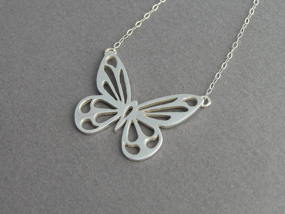 butterfly necklace pendant sterling silver butterfly