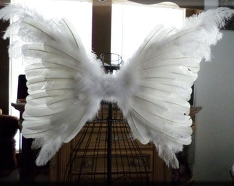 SALE! HUGE Adult Angel Wings Wedding, Flower Girl, Pageant, Costume, Cosplay, Photo Prop, decor 30x22