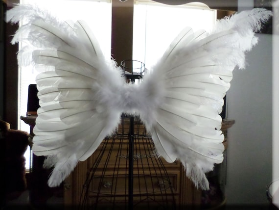 Sale huge adult angel wings wedding flower girl pageant for Angel wings wedding dress