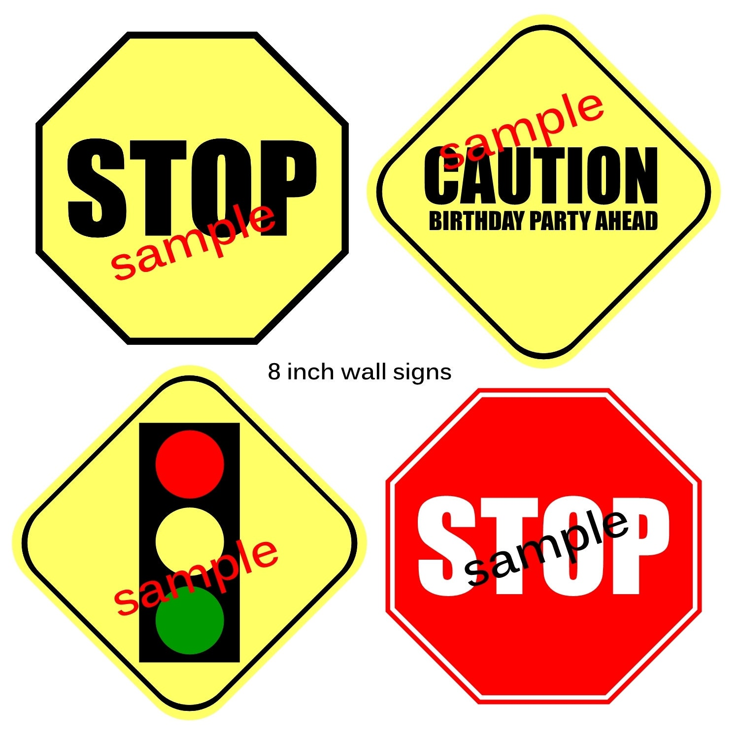 It is an image of Punchy Printable Traffic Sign