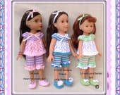 LC11 Pyjamas for 13 and 14 inch dolls PDF Knitting Pattern