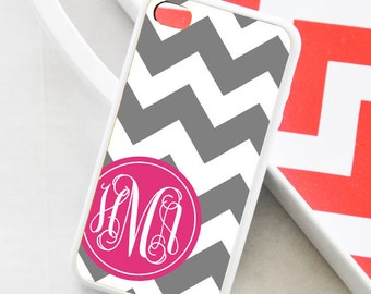 Chevron Personalized iPhone Case - Monogrammed iPhone Case - iPhone 4 Case - iPhone 5 Case - iPhone 5s Case