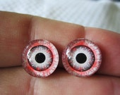 Glass eyes zombie eyes 14mm spooky hallowen eyes for art and crafts