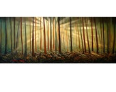 VERY LARGE 24X60 Original Abstract Painting Suntrees Ready to Hang Modern Art  By Thomas John