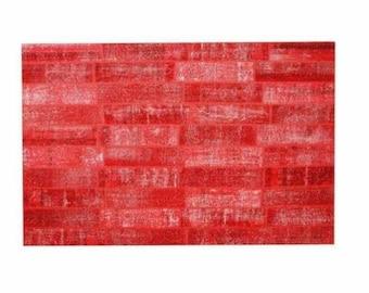 Patchwork rug Red 129
