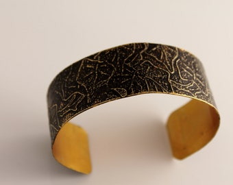 Ivy Leaf Etched Cuff