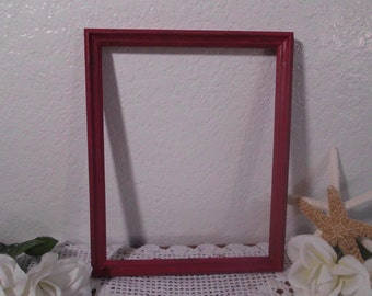 Rustic Red Wood Picture Frame 8 x 10 Shabby Chic Distressed Photo Decoration Country Farmhouse Man Cave Home Decor Wedding Decoration Gift