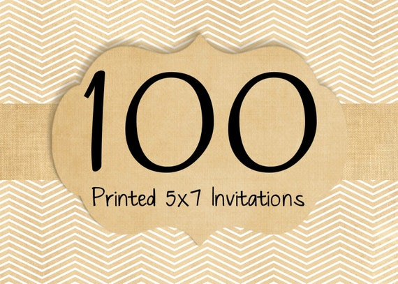 100 Printed Invitations